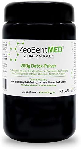 ZeoBent MED® Detox-Pulver 200g im Violettglas, CE zertifiziertes Medizinprodukt