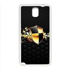 Black Fashion Shield Custom Protective Hard Phone Cae For Samsung Galaxy Note3