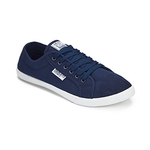 Diseñador Henleys De Lona Marino Hombre Zapatillas Azul Kenyon Casual Cordones 4qpw4FYda