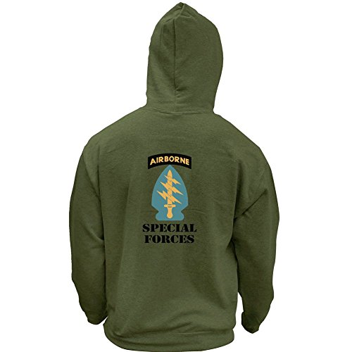- Army Special Forces Full Color Veteran Pullover Hoodie (X-Large, Military Green)