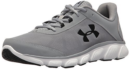 Under Armour Men's Micro G Assert 7 Running Shoe, Steel (100)/White, 10.5 M