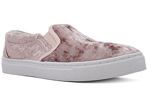 Charles Albert Women's Slip On Shoe Crushed Velvet Fashion S