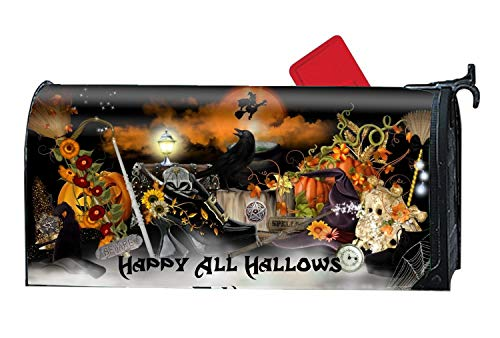 BYUII Magnetic Mailbox Cover - Holiday Halloween Themed, Decorative Mailbox Wrap for Standard -