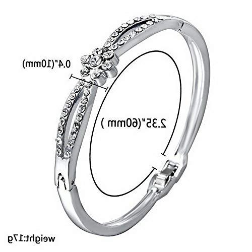 Mikash Fashion Gold Silver Crystal Bracelet Bangle Love Heart Charm Cuff Women Jewelry | Model BRCLT - 11939 |