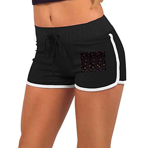 (Women's Fashion Halloween Pumpkin Jogger Sweatpant Sports Gym Hot Shorts)