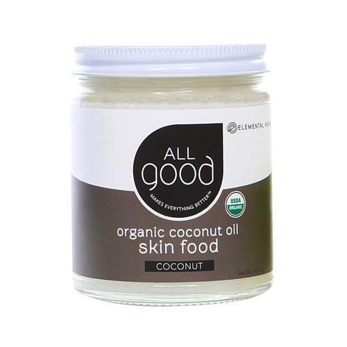 (All Good Organic Coconut Oil Skin Food - Natural Moisturizing Skin Care & Massage Oil - Non GMO - Vegan - 7.5 oz (Coconut))