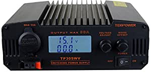 TekPower TP30SWV 30 Amp DC 13.8V Digital Switching Power Supply with Noise Offset