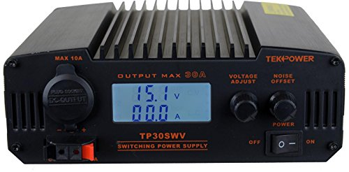 TekPower TP30SWV 30 Amp DC 13.8V Digital Switching Power Supply with Noise Offset ()