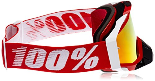 100% Goggle RACECRAFT RC RED Mirror Lens