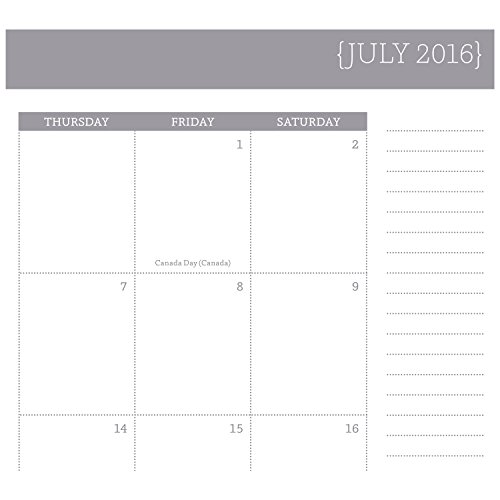 mead academic year weekly monthly planner appointment book july