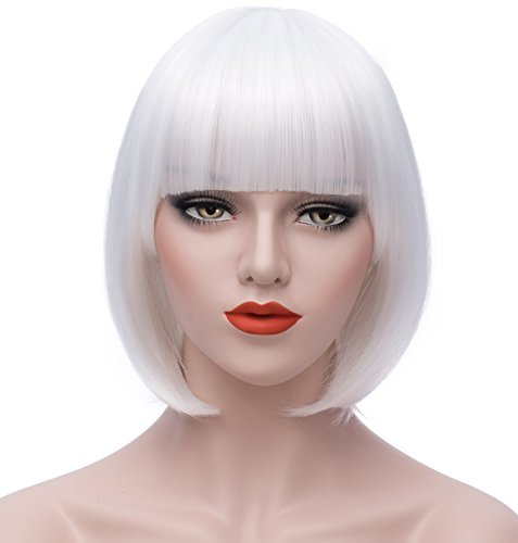 Women's Wigs Bob Wig - White Cosplay Wigs 12