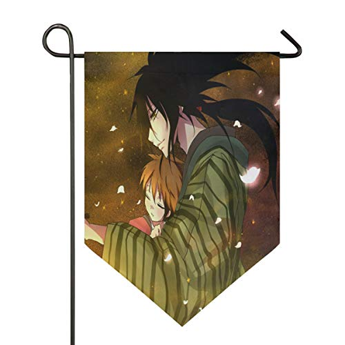 Hot Father's Day Anime Wallpaper Garden Flag Outdoor Banner Decorative Large House Polyester Flags for Wedding Party Yard Home Decor Season Porch Lawn Double Sided 12 x 18.5 -