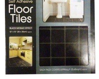 30 self adhensive nero piastrelle in vinile effetto mosaico: amazon