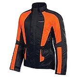 Olympia Moto Sports Unisex Horizon Neon Orange Rain Jacket, XL