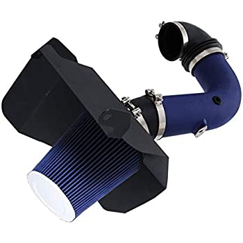 High Performance Parts Heat Shield Cold Air Intake Kit /& Blue Filter Combo Compatible for Dodge 2003-2007 Ram 2500//3500 5.9L L6 Diesel