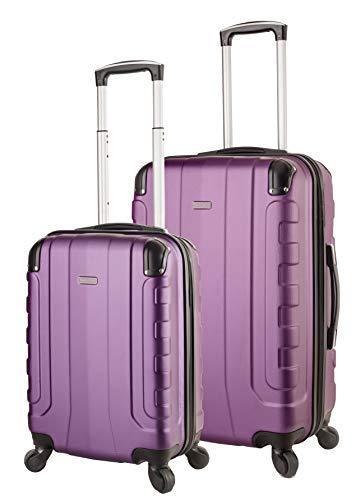 TravelCross Chicago Luggage Lightweight Spinner Set - Purple, 2 Piece (20'' / 24'')