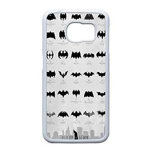 Samsung Galaxy S6 Edge Phone Case White Batman CML5575040