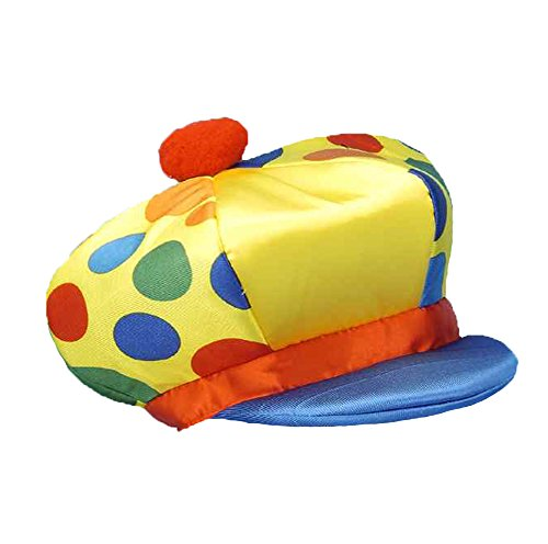 Clown Chuckles Costume The (Jumbo Puffy Yellow Circus Clown Hat w/ Polka)