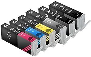 Sherman Inks and Toner Cartridges ® 6 Pack Compatible PGI-250, CLI-251 Ink Cartridge 1 Big Black, 1 Gray, 1 Small Black, 1 Cyan, 1 Magenta, 1 Yellow Multipack Replacement W/Grey for Inkjet Printers: PIXMA MG5420, PIXMA MG5450, PIXMA MG5520, PIXMA MG6320, PIXMA MG6350, PIXMA MG6420, PIXMA MG7120, PIXMA MX722, PIXMA MX922, PIXMA MX925, PIXMA iP7220, PIXMA iP7250, PIXMA iP8720 Printer PGI250 CLI251 Multipack Combo