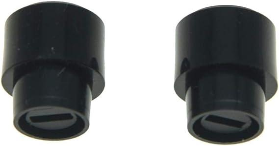 Dopro Lot de 2 Boutons de s/électeur 3 voies ou 4 voies pour Tele//Telecaster US Noir//Ivoire//Blanc