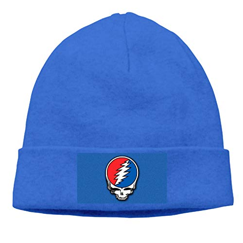 (nuxteen Winter Newsboy Cable Knitted Visor Beanie Hat with Grateful Dead Steal Your Face)