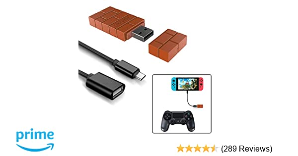 8Bitdo Wireless Controller Adapter for Nintendo Switch,Windows,Mac &  Raspberry Pi with a OTG Cable (Black)