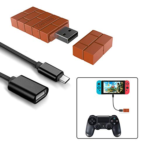 (8Bitdo Wireless Controller Adapter for Nintendo Switch,Windows,Mac & Raspberry Pi with a OTG Cable (Black))
