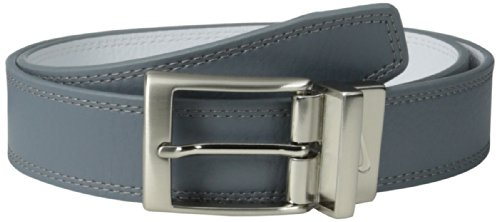 Nike Men's Classic Reversible Belt, Grey/White, (White Reversible Belt)