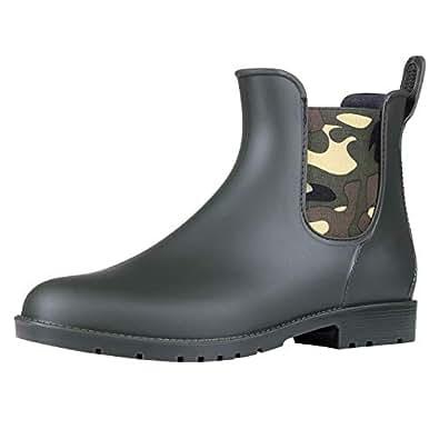 Amazon.com   Asgard Girl's Waterproof Chelsea Rain Boots