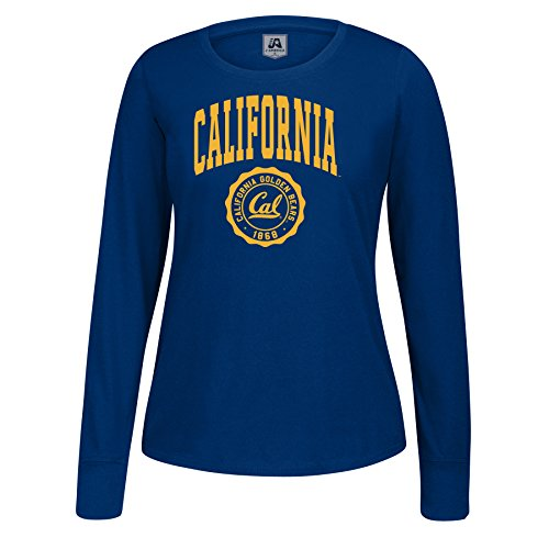 ornia Golden Bears Women's Athletic Seal Long Sleeve Essential Tee, X-Large, Navy ()