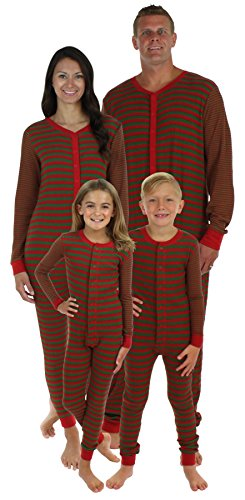 Sleepyheads Family Matching Red & Green Thermal Onesie's-Kids (SHTM-4051-K-12) (For Onesie Girls Christmas)
