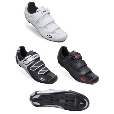 Giro 2012 Mens Treble Road Bike Shoes (Black/White/Red - 48)