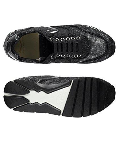 Voile Blanche - Zapatillas de Piel para mujer negro negro mate / plateado