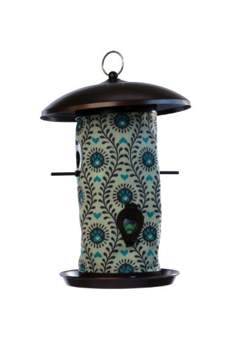 Toland Home Garden Heart Paws 14.5 x 9.5-Inch Decorative 4-Port Hanging Art Wild Bird Seed Feeder 202054 by Toland Home Garden