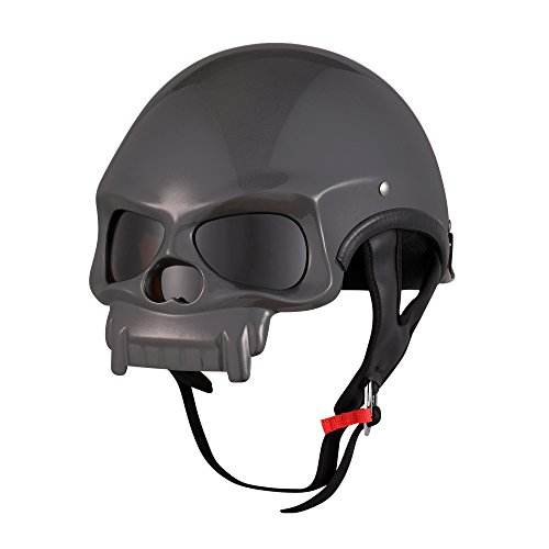 OSNICH Halloween Skull Style Decoration Half Face Motorcycle Helmets with DOT Certificate Gift for Chiristmas Thanksgiving Day Halloween Balck Friday New Year Deals (Adult, Color 3) ()