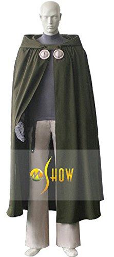 Mtxc Men's Tsubasa: Reservoir Chronicle Cosplay Costume Syaoran Li Full Set Size XXX-large Green - Syaoran Li Costume
