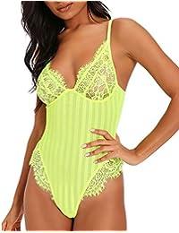 0b78a716b394c Women Sexy Lace Bodysuit One Piece Lingerie Teddy Underwear