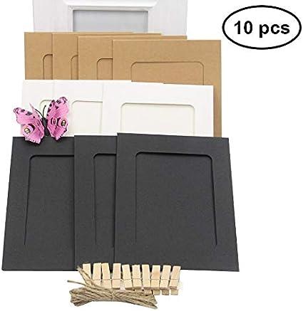 WINOMO Marco de foto de papel Decoración de pared con cuerda y clip Bordes de decoración Marco de papel