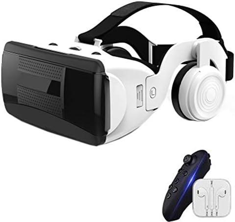 バーチャルリアリティのメガネ 3Dメガネ 0-600°近視調整、 に適しています 4.7-6.0 インチ IOS/Android 携帯電話,黒,B