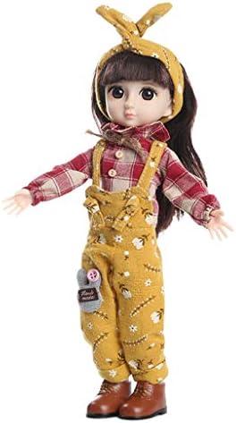perfeclan Mädchen Kugelgelenk Puppe für 1/6 BJD Doll, 36cm schöne Puppen mit handgemachter Kleidung - Kinder Geschenk Spielzeug - A