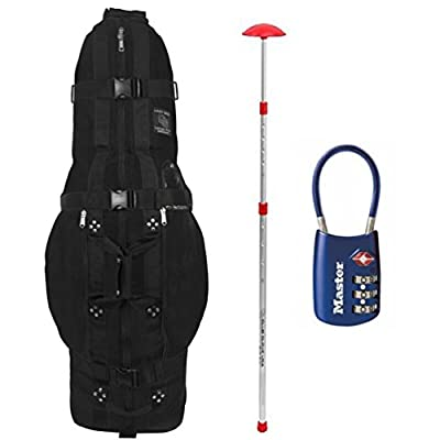 TOUR BUNDLE: 2016 Club Glove Golf Travel Cover Last Bag Large Pro, Comes with Stiff Arm and TSA Lock (ALL in One!)