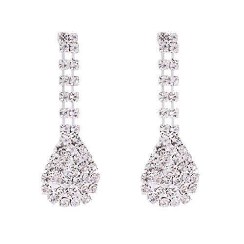 FANCY LOVE Crystal Rhinestone Bridal Necklace Earrings Jewelry Sets by FANCY LOVE JEWELRY (Image #3)