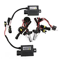 uxcell® 55W H4 Hid Conversion kit with SLIM Ballast Bi Xenon Hi Low 8000K