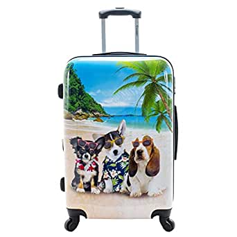 "Chariot Chariot 20"" Lightweight Spinner Carry-on Upright Suitcase - Kona, kona (Brown) - CHD-23-20 KONA"