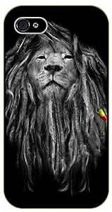 iPhone 5 / 5s Rasta lion - black plastic case / Nature, Animals, Places Series