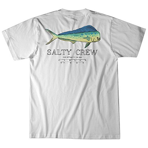 (Salty Crew Angry Bull SS Tee (Small, White))