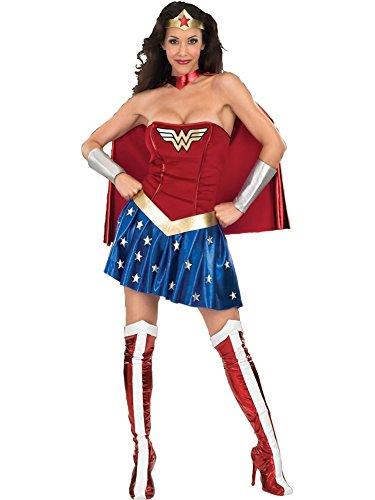[DC Comics Deluxe Wonder Woman Adult Costume, Small] (Adult Halloween Costumes Women)