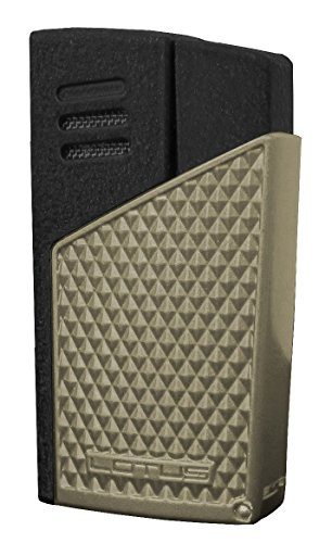 (Lotus Lighter - Maltese Twin Pinpoint Lighter Light Gunmetal Diamond & Black Matte)
