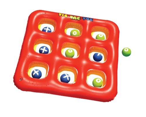 Swimline Tic-Tac-Toe Pool Float Toss Game (Toe Ball Tac Tic)