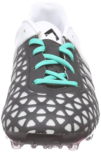 adidas Ace 15.1 FG/AG J, Botas de Fútbol Unisex Bebé Negro / Plateado / Verde (Negbas / Plamat / Menimp)